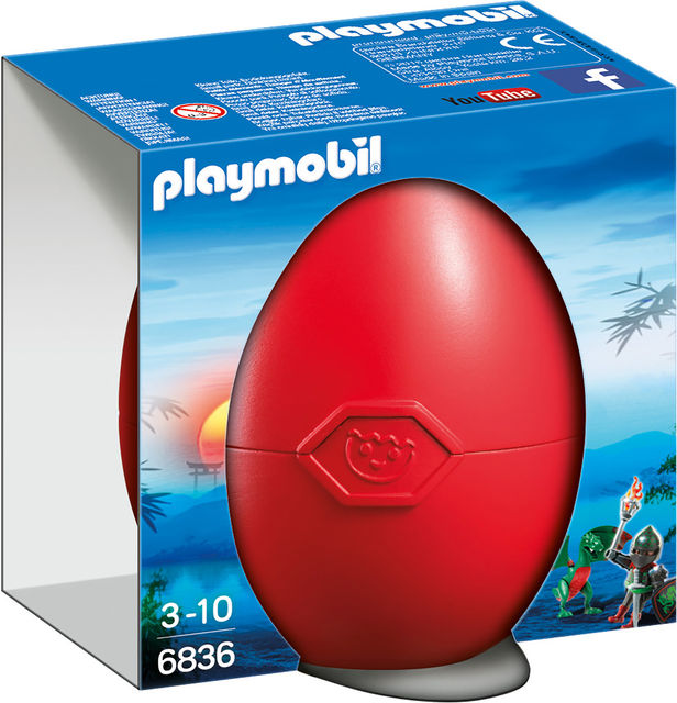 pusculita oul dragon si cavaler playmobil knights imagine