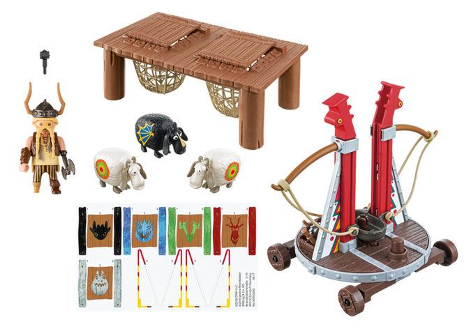 Gobber lanseaza oile in aer playmobil dragons - 3
