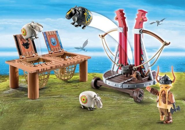 Gobber lanseaza oile in aer playmobil dragons - 2
