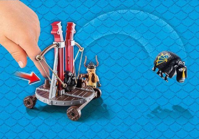 Gobber lanseaza oile in aer playmobil dragons - 1