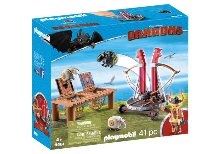 Gobber lanseaza oile in aer playmobil dragons