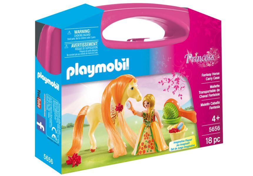 Printesa si calut set portabil playmobil princess