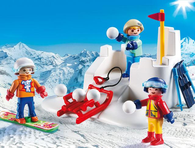 Bataie cu zapada playmobil family fun - 2