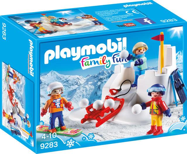 Bataie cu zapada playmobil family fun