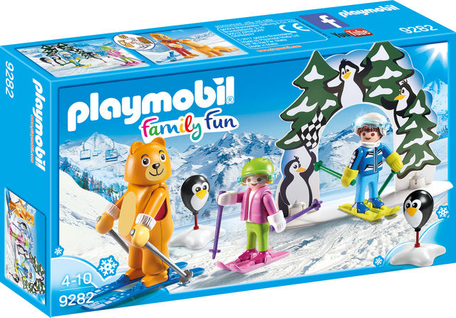 Lectii de ski playmobil family fun