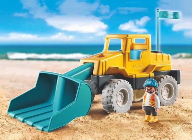 Excavator playmobil sand - 1