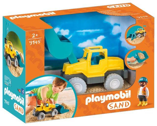 Excavator playmobil sand