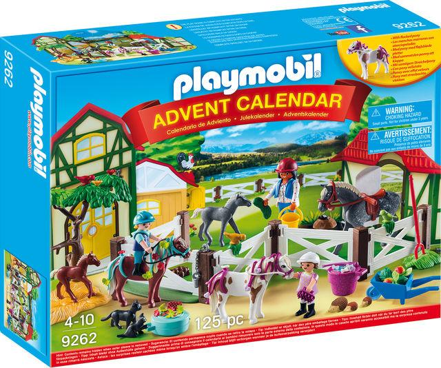 Calendar craciun ferma calutilor playmobil