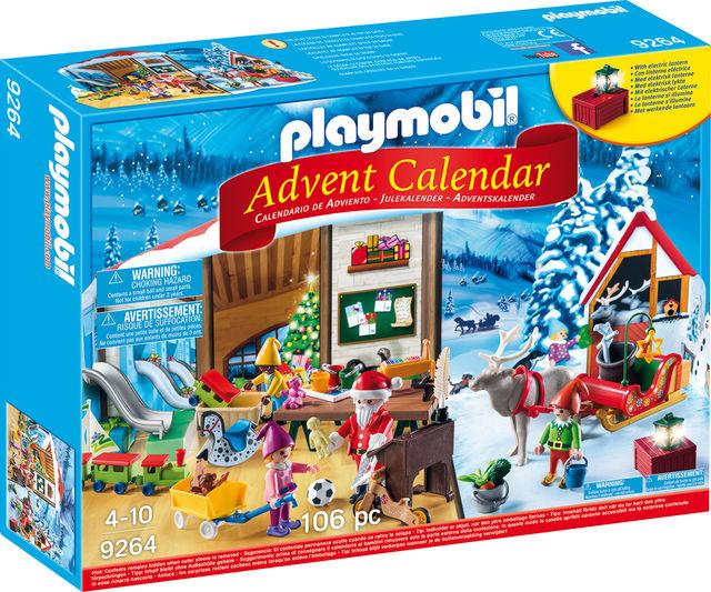 Calendar craciun atelierul lui mos craciun playmobil