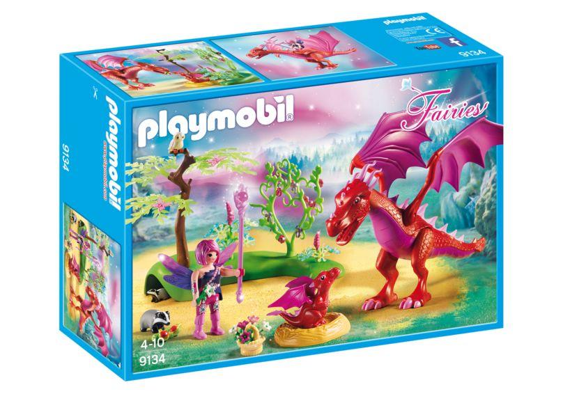Dragonul prietenos cu puiul playmobil fairies