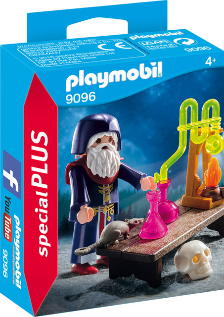 Figurina alchimist cu potiuni playmobil imagine