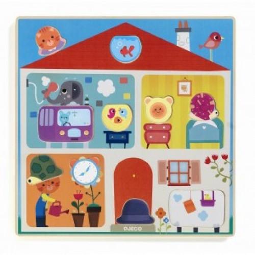 Puzzle cu piese interschimbabile djeco imagine
