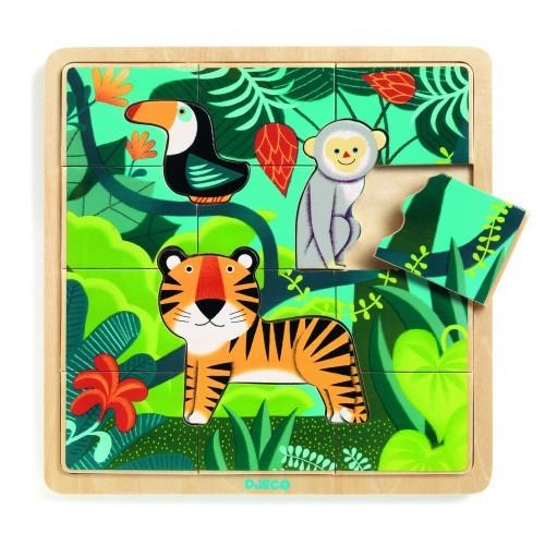 Puzzle lemn jungla djeco imagine