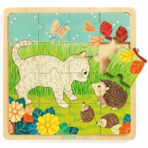 Puzzle lemn garden djeco imagine