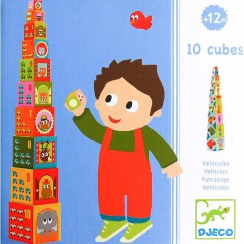 Turn de construit cu masini djeco imagine